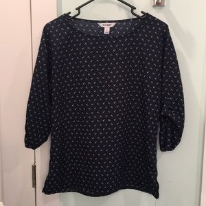 Old Navy anchor 3/4 sleeve top